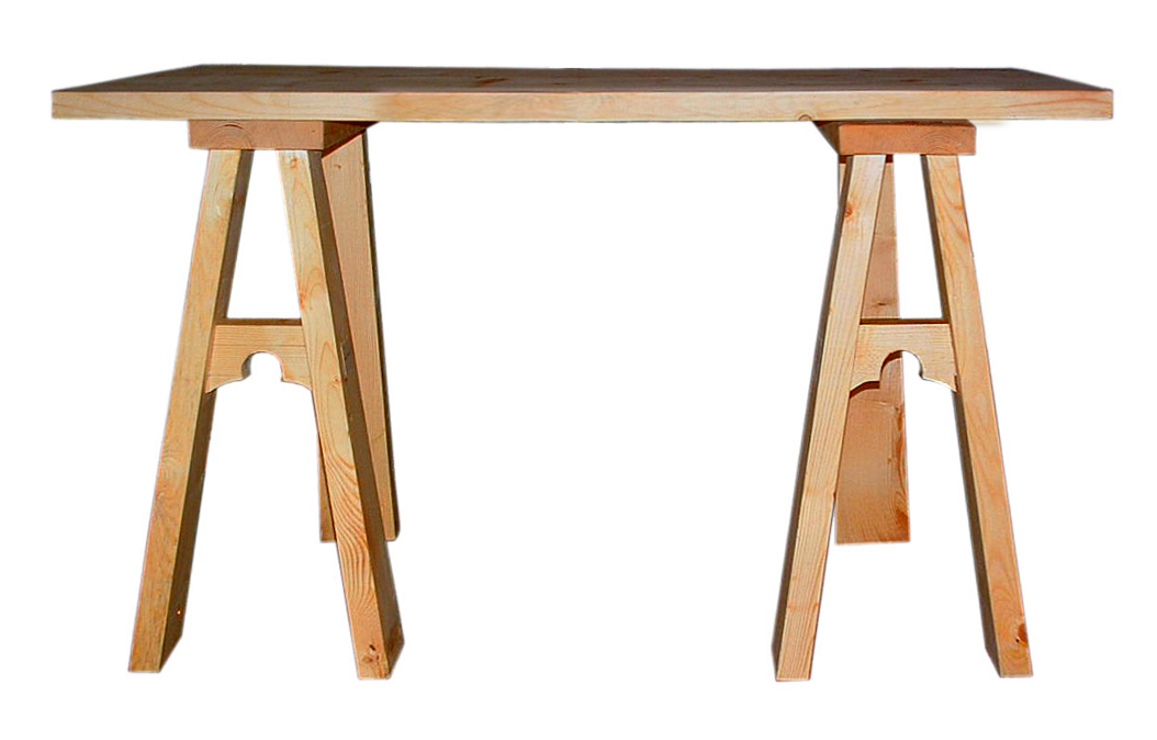Medieval design tavolo su cavalletti sumally - Cavalletti per tavolo ...